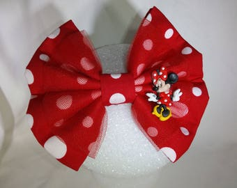 Minnie Mouse Disney inspired hair bow