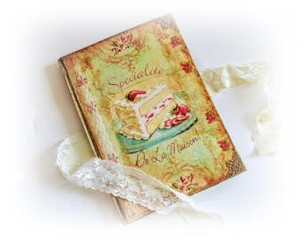 Personalized Cookery Recipe Book Grandma's Recipe Book Vintage Blamk Recipe Book  Customised Wife Gift Chrristmas Gift Recipe Notebook