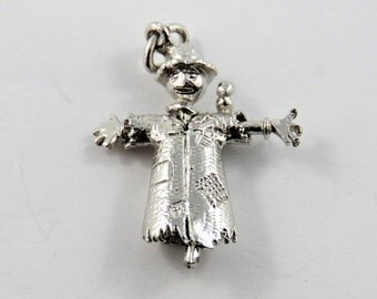 Scarecrow Sterling Silver Charm of Pendant.