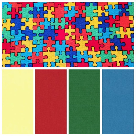 Puzzle Pieces, Weighted Blanket, Cotton, Up to Twin Size, 3 to 20 Pounds, 3 to 20 lb, Adult Weighted Blanket, SPD, Autism, Calming Blanket