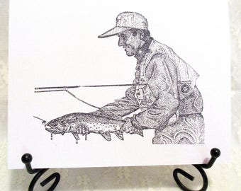 Fishing Card: Add a Greeting or Leave Blank