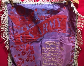 WW2 U.S Army Pillow Cover