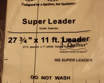 "Handi Quilter Super Leader 27 3/4"" by 11 feet for longarm quilting."