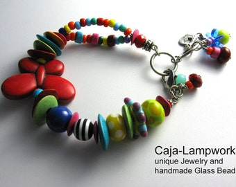 Cheerful colorful bracelet, butterfly