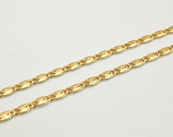 "18K Gold Filled Chain 17"" Length 3mm Width Inch CG60"