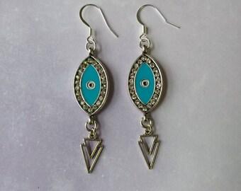 Eye & Triangle Earrings