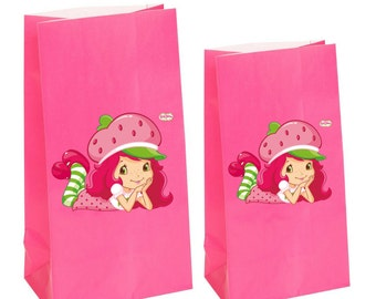 Strawberry Shortcake Party gift Favor Bag~ Strawberry shortcake Party Inspired Decorations & Decor