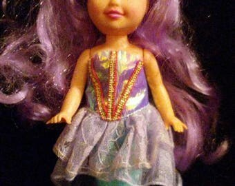Vintage 1991 MY PRETTY Mermaid Purple Princess Doll in Original Dress!!