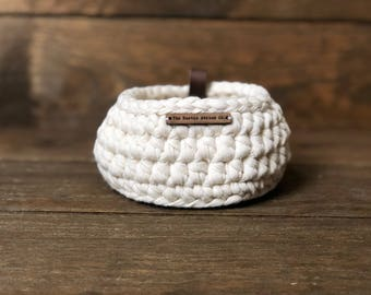 Small Crochet Basket • storage basket • crochet bowl • storage bowl