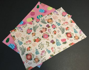 200 Designer 10x13 Easter PINEAPPLE and RABBITS Poly Mailers 100 each Envelopes Shipping Bags Spring