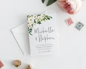 Wedding invitation, floral wedding invitations, printable invitation, wedding invite, invitation template, wedding invites ISLA