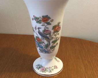 Vintage 1980s Wedgwood Kutani Crane Pattern Vase