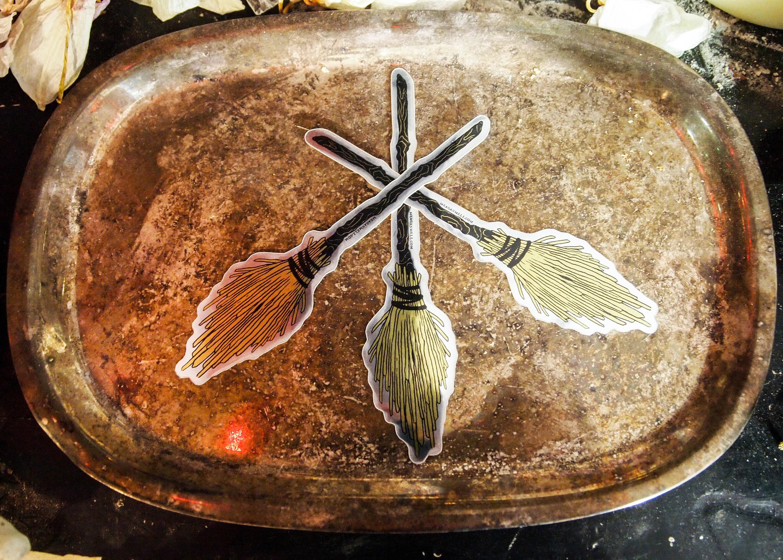 Witches' Broom Sticker