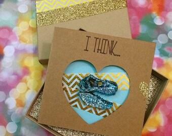 T Rex Dinosaur Pin & Card Gift Set - You're Dino-mite!