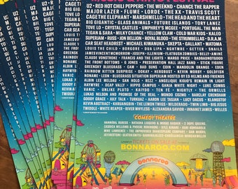 "4-Pack: High Quality Bonnaroo 2017 Lineup Poster - 17"" x 11"""