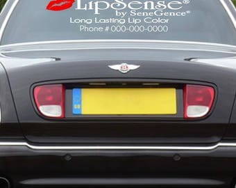 Personalized LipSence Vinyl Car Decal