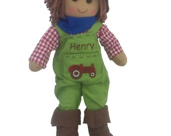 Personalised Farmer Rag Doll
