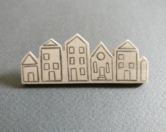 Houses // City. Brooch.