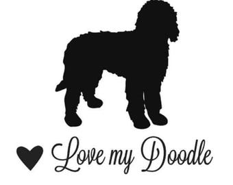 Easy Apply - LOVE My DOODLE Vinyl Decal for Wall , Window , Laptop Words Phrase Multi Colors Sizes Wall Art Removable