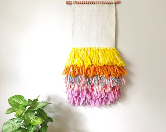 Wall Hanging Weaving, Woven Wall Hanging, Wall Hanging Tapestry, Woven Wall Art, Colorful Home Decor, Textile Wall Hanging, Nursery Decor