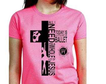 Ballet  All i need is Ballet and a whole lot of Jesus cross  SVG  Cut file  Cricut   t-shirt design Ballet, point shoes, Ballet dancer svg