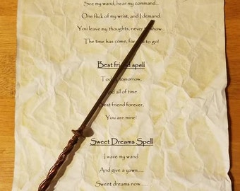 Magic spell scroll
