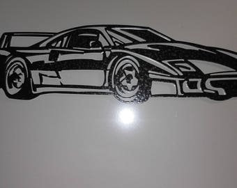 Plate teaches FERRARI F40 steel hammered effect paint finish