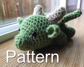 Baby Dragon Crochet Pattern, Game of Thrones Crochet, Amigurumi Dragon, Crochet Dragon, Dragon Plush, Amigurumi Pattern, Baby Dragon