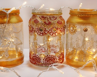Hand painted jars