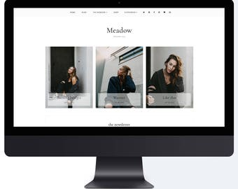 NEW! Meadow | Responsive Blogger Template With LANDING PAGE + Free Installation