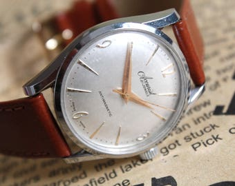 Vintage SWISS Mens Watch ACCURIST, Antimagnetic, Mens Watch, Mechanical Watch, VINTAGE Watch, Dress watch, Men's wrist watch, Leather watch