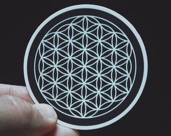 "Flower of Life Sticker - 2.5"" Durable Vinyl Sticker - Weather Resistant - Sacred Geometry - Metaphysical, New Age, Hippie, Boho, Mystical"