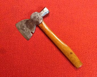 "Antique Hatchet C. Hammond Phila Cast Steel No. 2 12"" Broad Axe Carpenters Framing Tool"