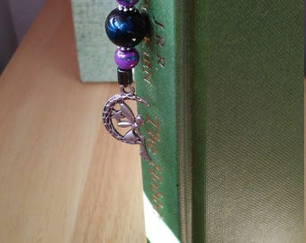 Silver Faerie Bookmark w/ Glass Beads