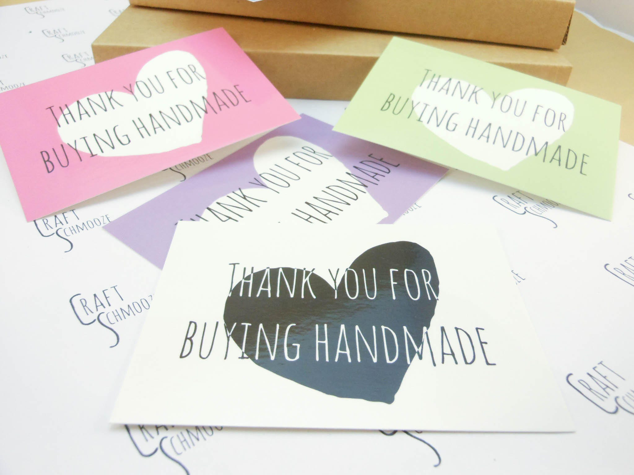 thank you for your order thank you card handmade etsy