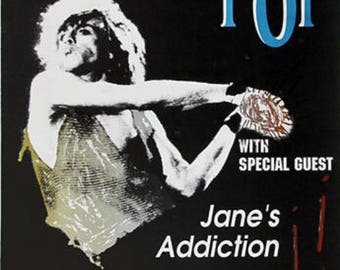 Iggy Pop - Jane's Addiction Poster A3 or A4 Matt