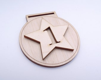 Wooden Medal Shape for Crafts - Laser Cut - Wooden Medal - Personalised Medal - Running Medal - 1st Place Medal - Blank Medal