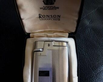 RONSON VARAFLAME ENGLAND Pocket Gas Lighter, Vintage Made In Englanf Ronson Varaflame Lighter, Ronson Varaflame Gas, Vintage Lighter, Ronson