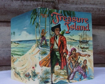 Treasure Island Robert Louis Stevenson Whitman Publishing Co Vintage 1960s Illustrated Classic Book