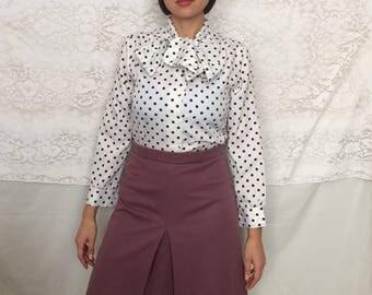 Vintage 70's mauve A-line skirt