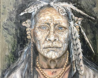 American Indian Oil Painting