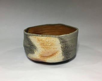Wood fired matcha chawan, wabi-sabi Japanese teabowl, woodfired with natural ash glazes. Pottery, ceramic, tea ceremony.