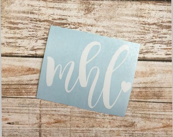 Initial Decal | Lowercase Decal | Personalized Decal | Monogram Decal | Monogram Yeti Decal | Car Decal | Vinyl Decal | Simple Decal