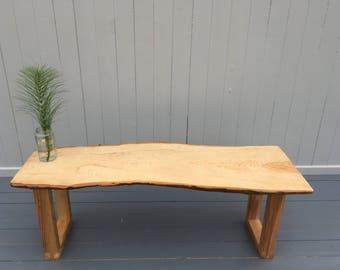 English Ash live edge bench
