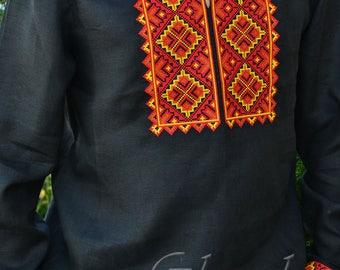 Vyshyvanka men Ukrainian Embroidered shirt , Embroidered shirt vyshyvanka for man