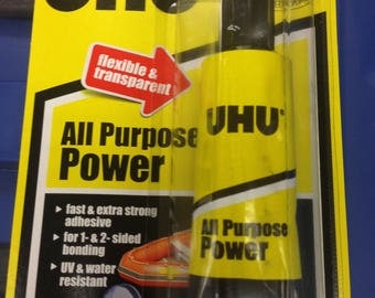 New UHU All Purpose Liquid Strong Adhesive Glue For Everyday Use or Repair Kit on Most Surfaces