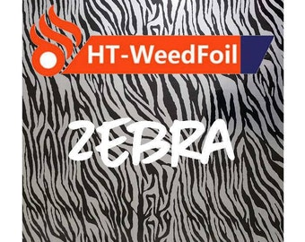 HT WeedFoil Heat Transfer Vinyl - Iron On - HTV - Zebra Foil