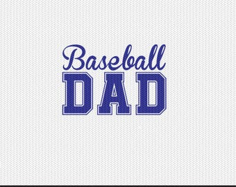 baseball dad svg dxf file instant download silhouette cameo cricut clip art