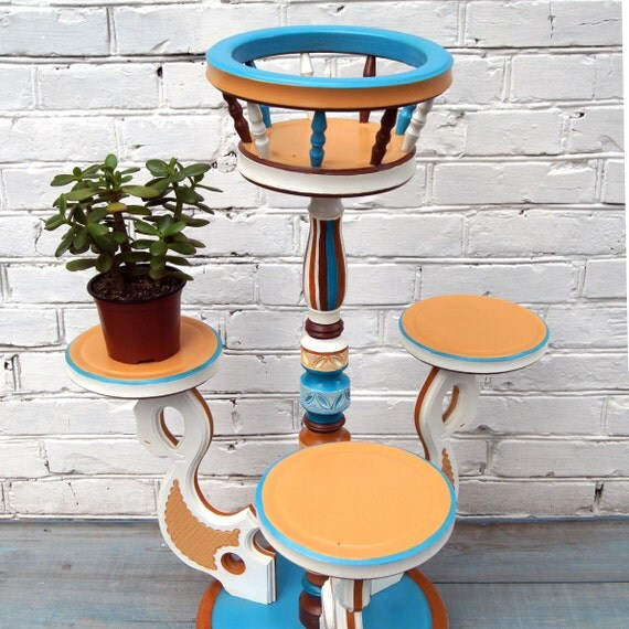 Wood Plant Stand Indoor Wooden Base Large Cache Pot Stand
