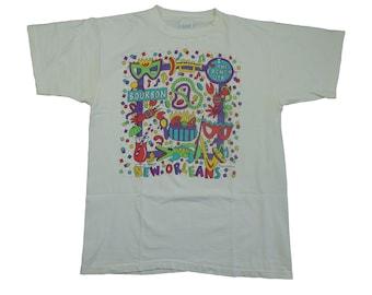 93 Vintage New Orleans Mardi Gras Tee - French Quarter New Orleans Bourbon Street Tshirt 90s Vintage - XL
